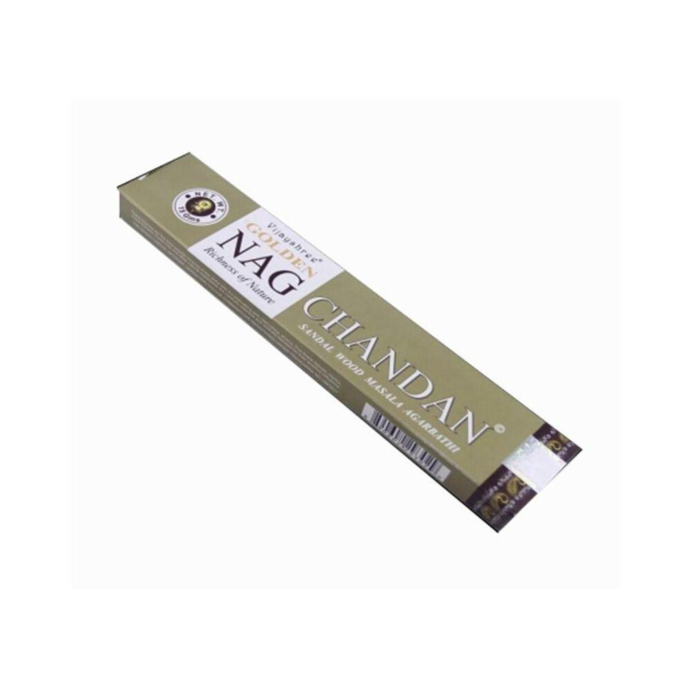 Füstölő - Golden Nag Chandan, arany, 15 g