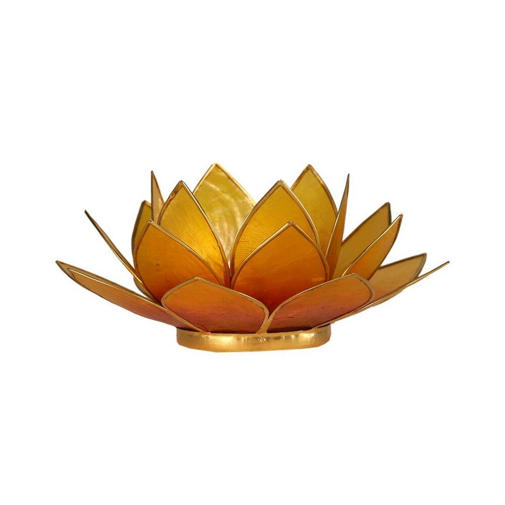 Mécsestartó Lótuszvirág 13,5 cm -narancssárga