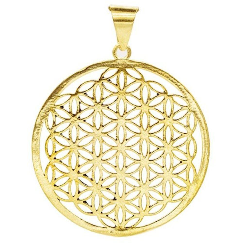 Élet virága medál - arany színű ( lánc nélkül)