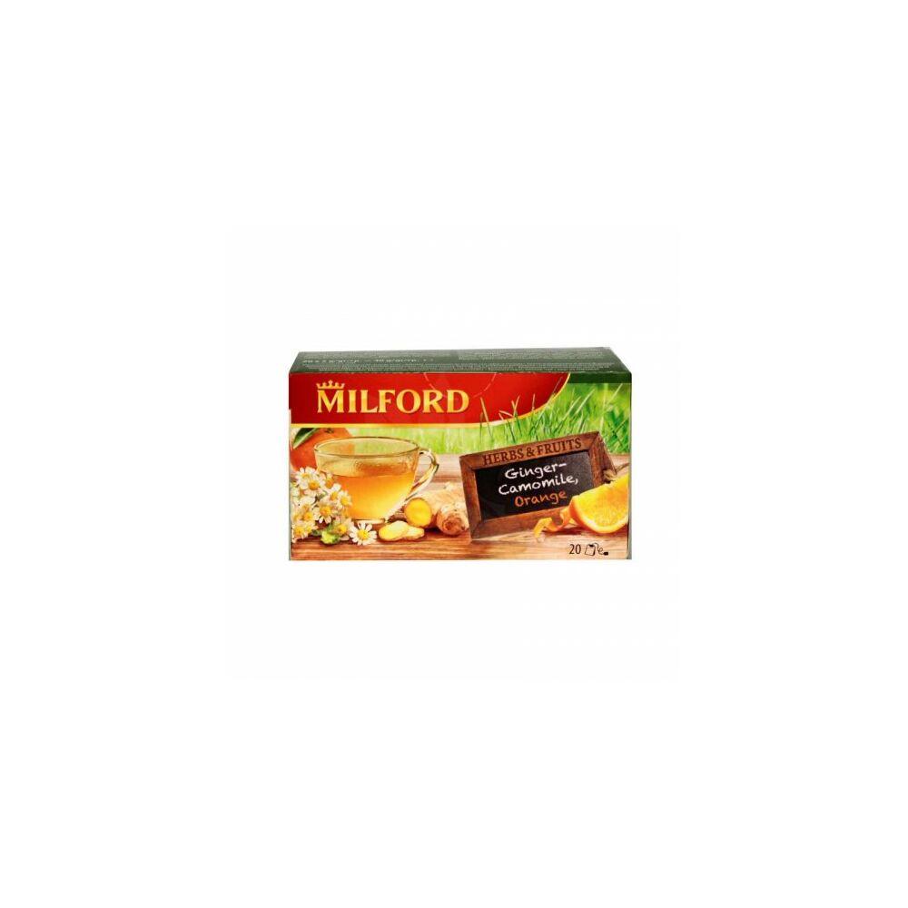 Milford gyümölcs tea gyömbér, kamilla, narancs 12db/csomag