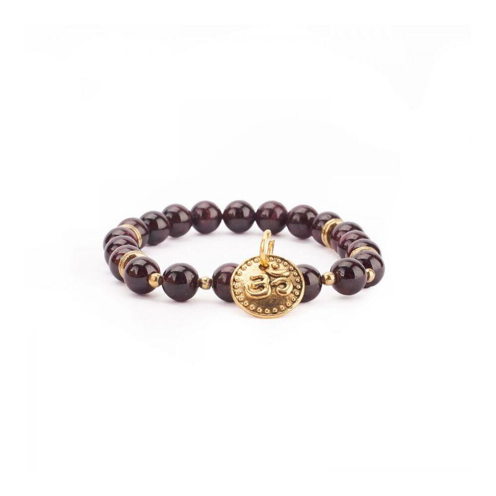 Mala karkötő gránát, arany színű OM medállal - M