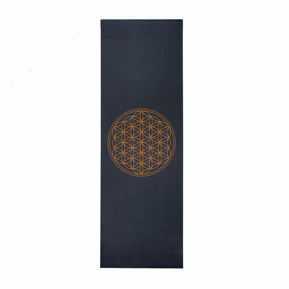 Bodhi Leela jógaszőnyeg - az élet virága - sötétszürke - 4,5 MM