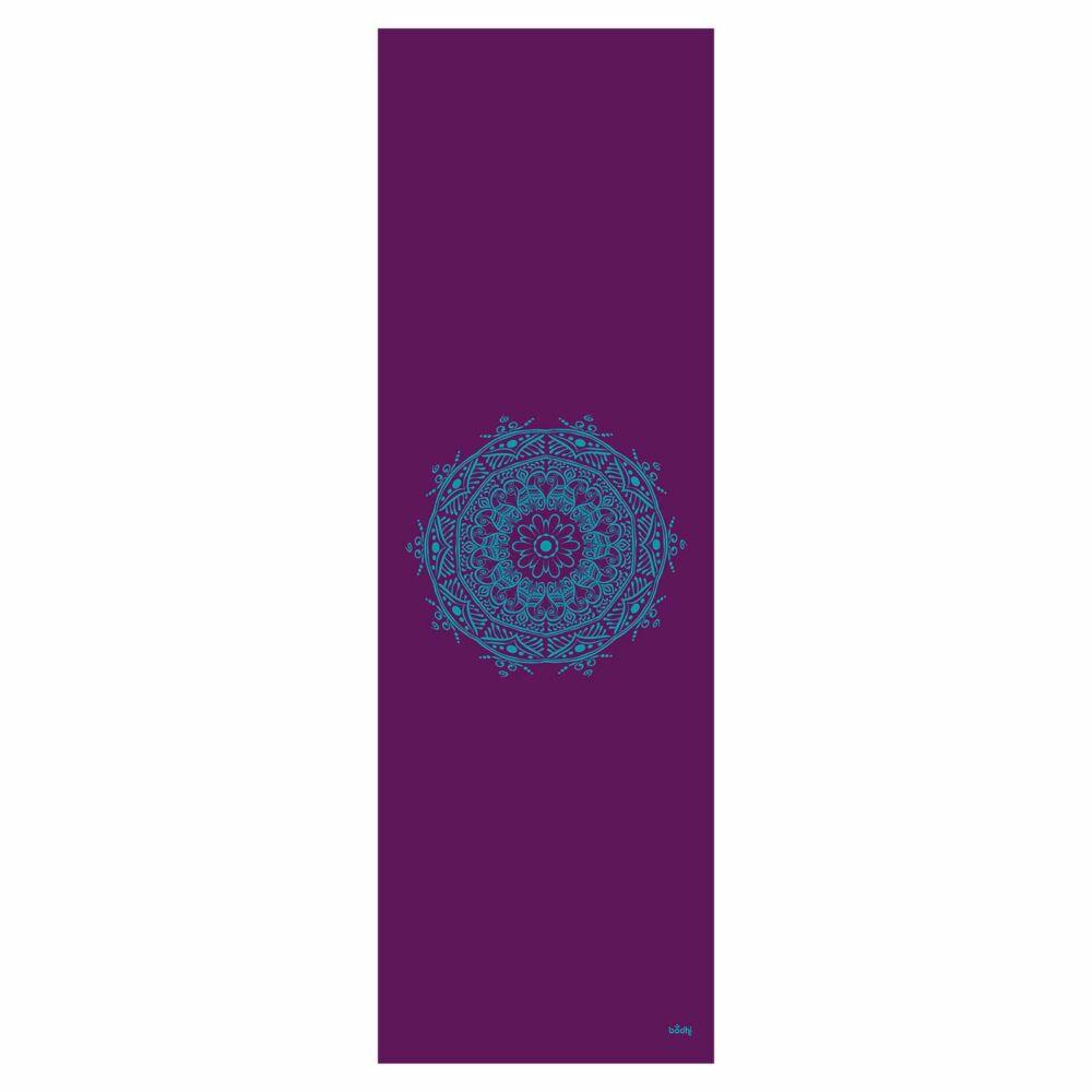 Bodhi Leela 4.5mm jógamatrac - Mandalával  - türkiz mintával