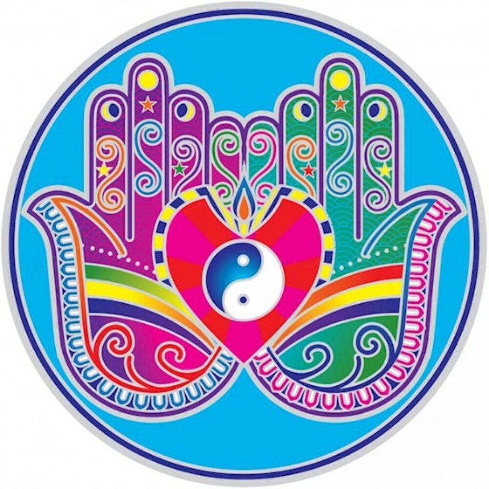 Naplemente matrica-  gyógyító kezek -  Mandala minta - 14 cm