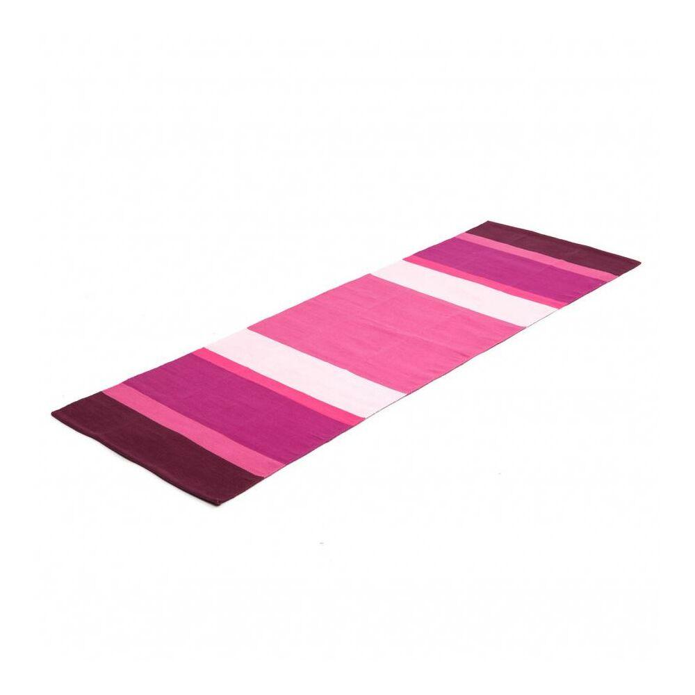 Yoga Rug STRIPED - Pamut jóga szőnyeg /Lila-pink