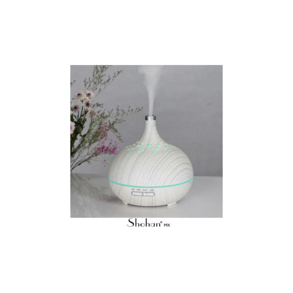 Shohan Mx1 ultrahangos aromadiffúzor 7 színű LED világítással, fehér