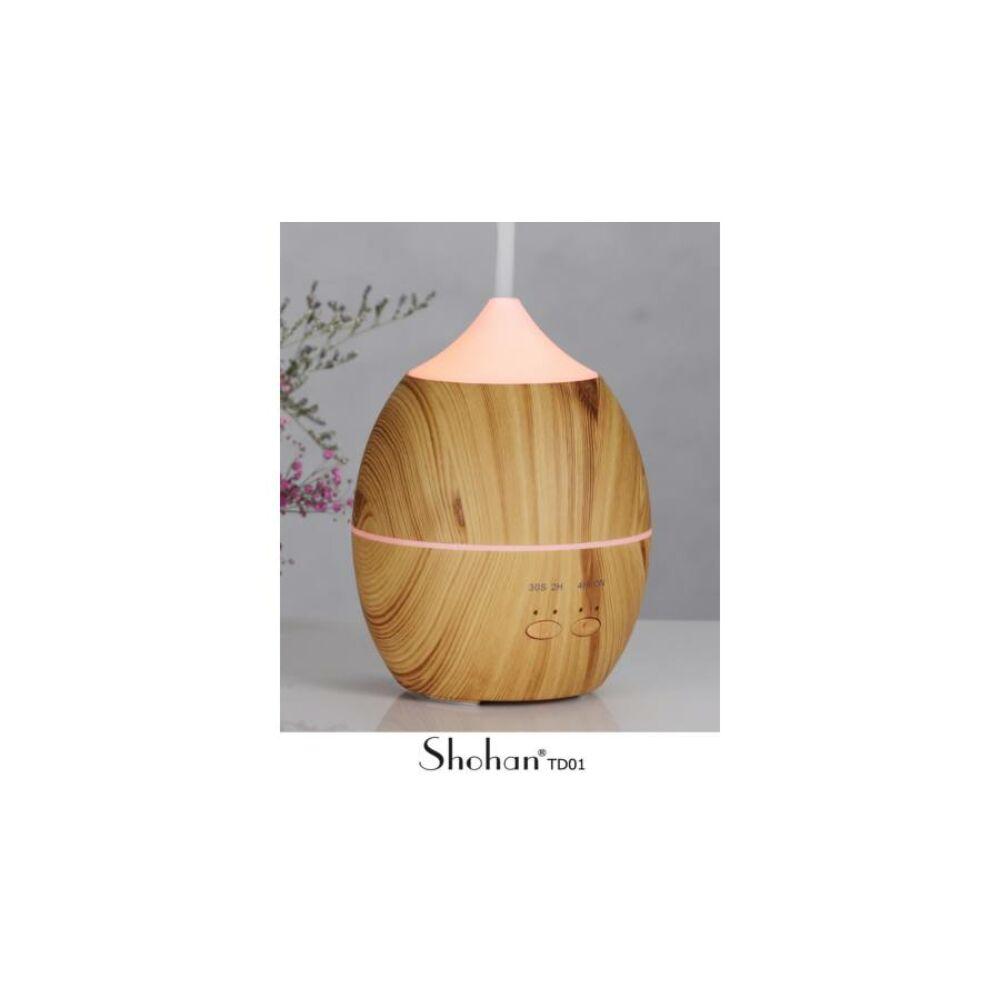 Shohan TD 01 ultrahangos aroma diffúzor, világos fa színű