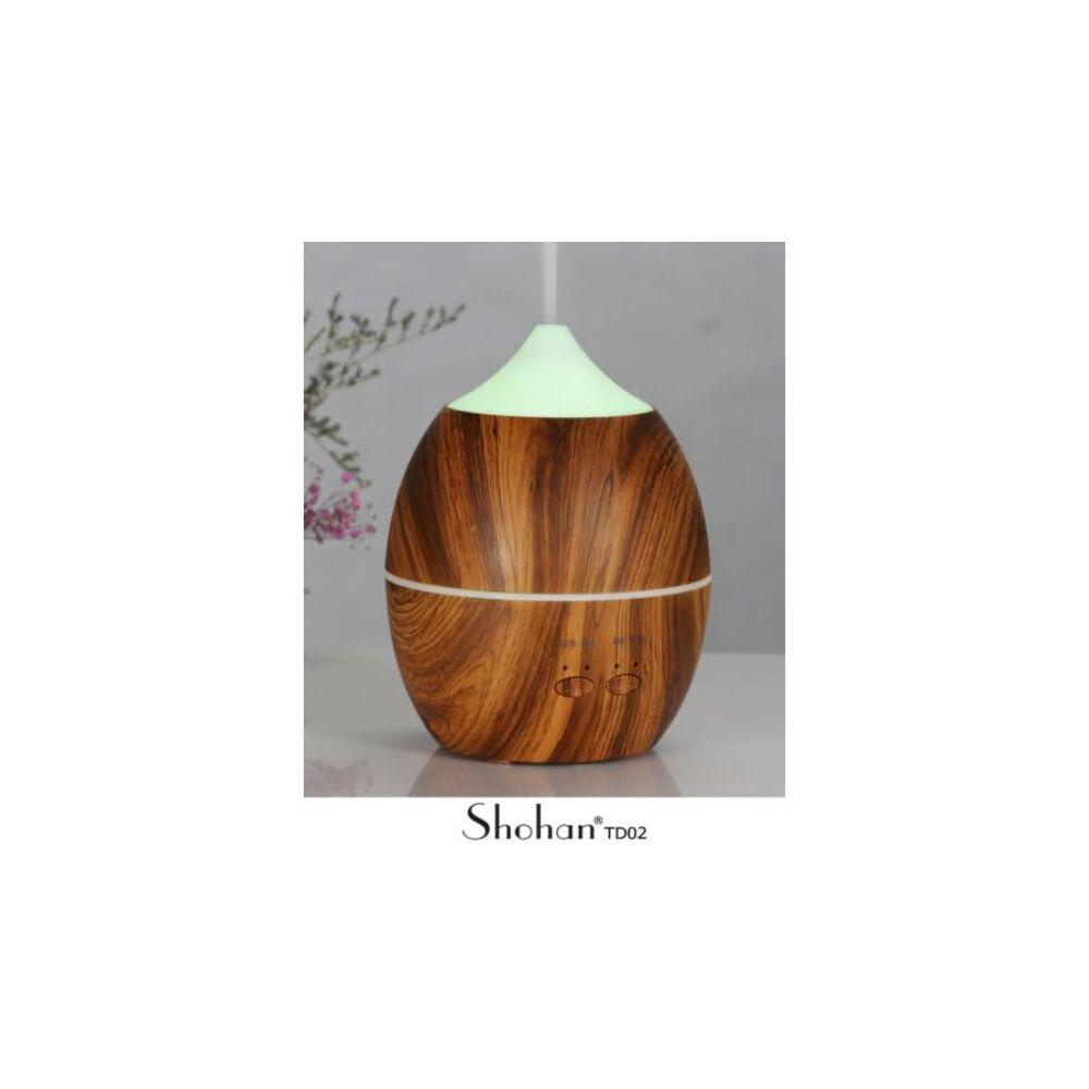 Shohan TD 02 ultrahangos aroma diffúzor, sötét fa színű