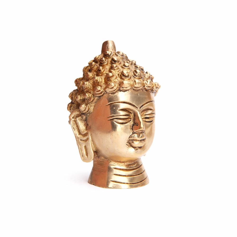 Buddha fejszobor, kb. 8 cm