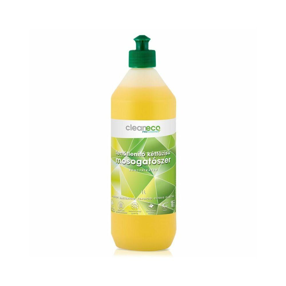 cleaneco kétfázisú fertőtlenítő mosogatószer koncentrátum 1000ml