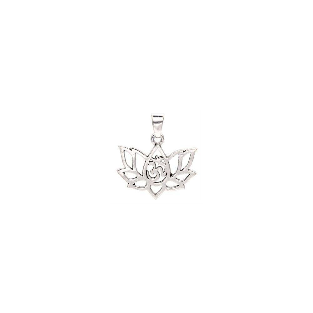 Lótusz medál ezüst zsínű (lánc nélkül)