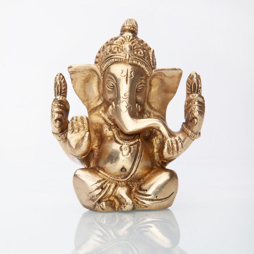 Ganesha rézszobor, kb. 12 cm