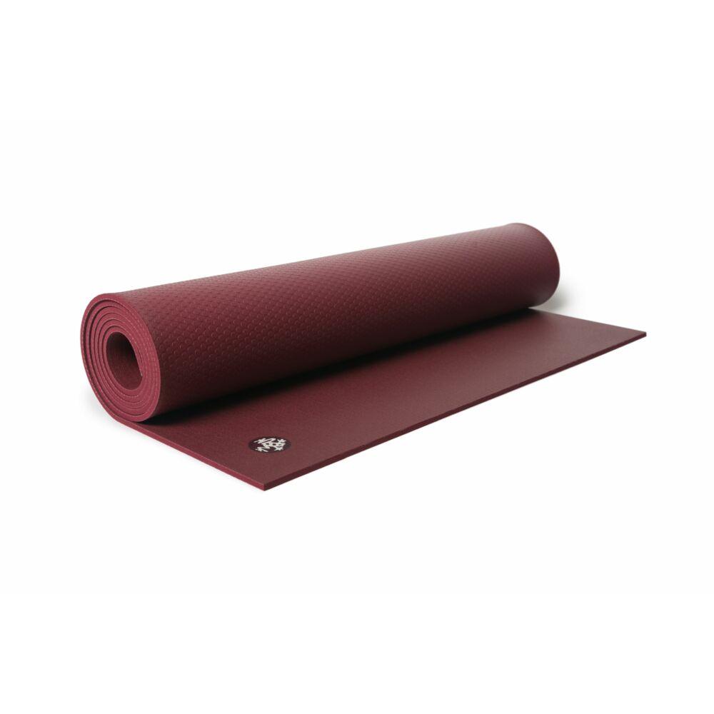 Manduka Pro Black 6 mm  jógaszőnyeg, verve, bordó