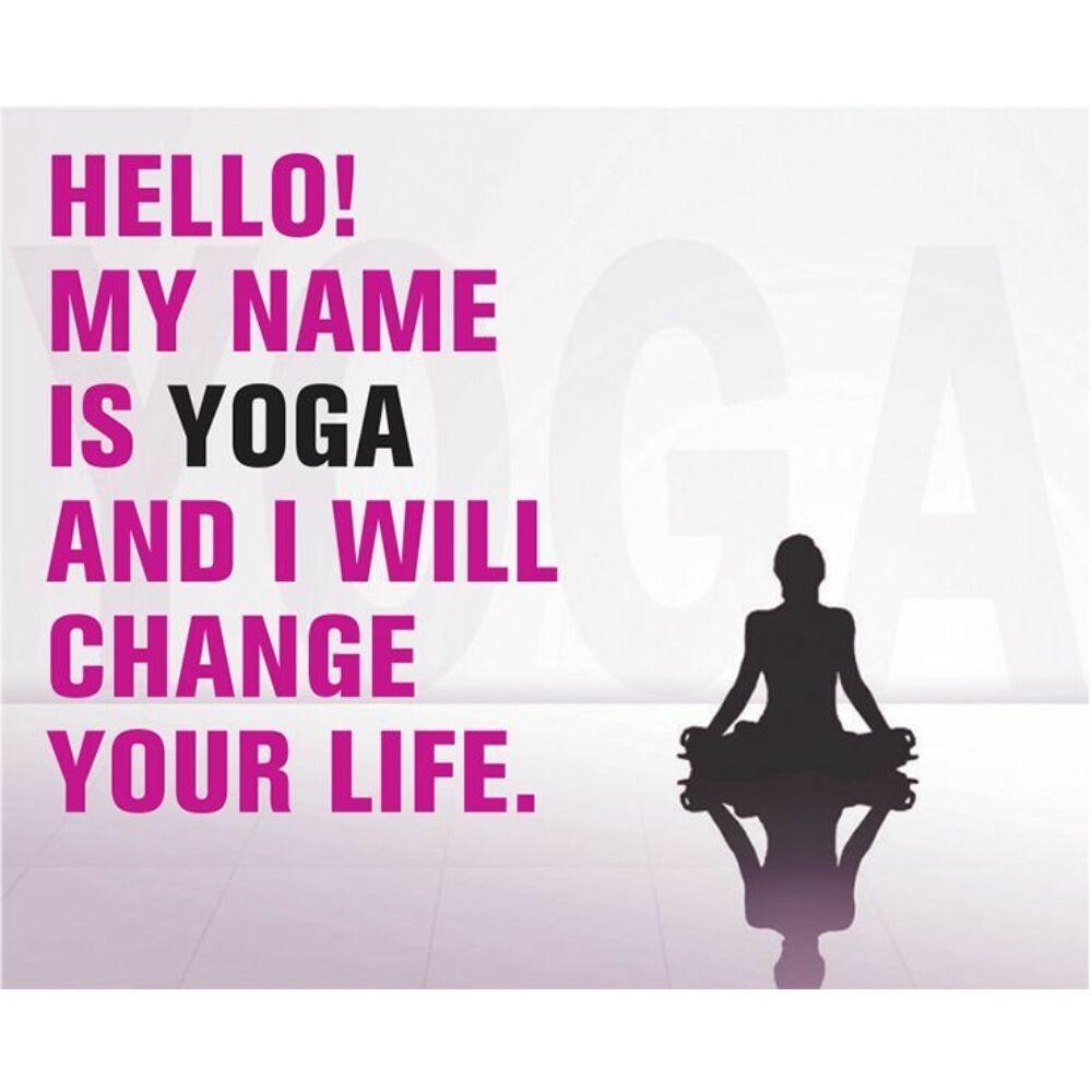 Hűtőmágnes - Hello My name is Yoga - Pink