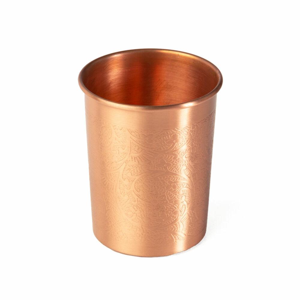 Réz poharak - 2 db 250 ml pohár - Rézdíszek