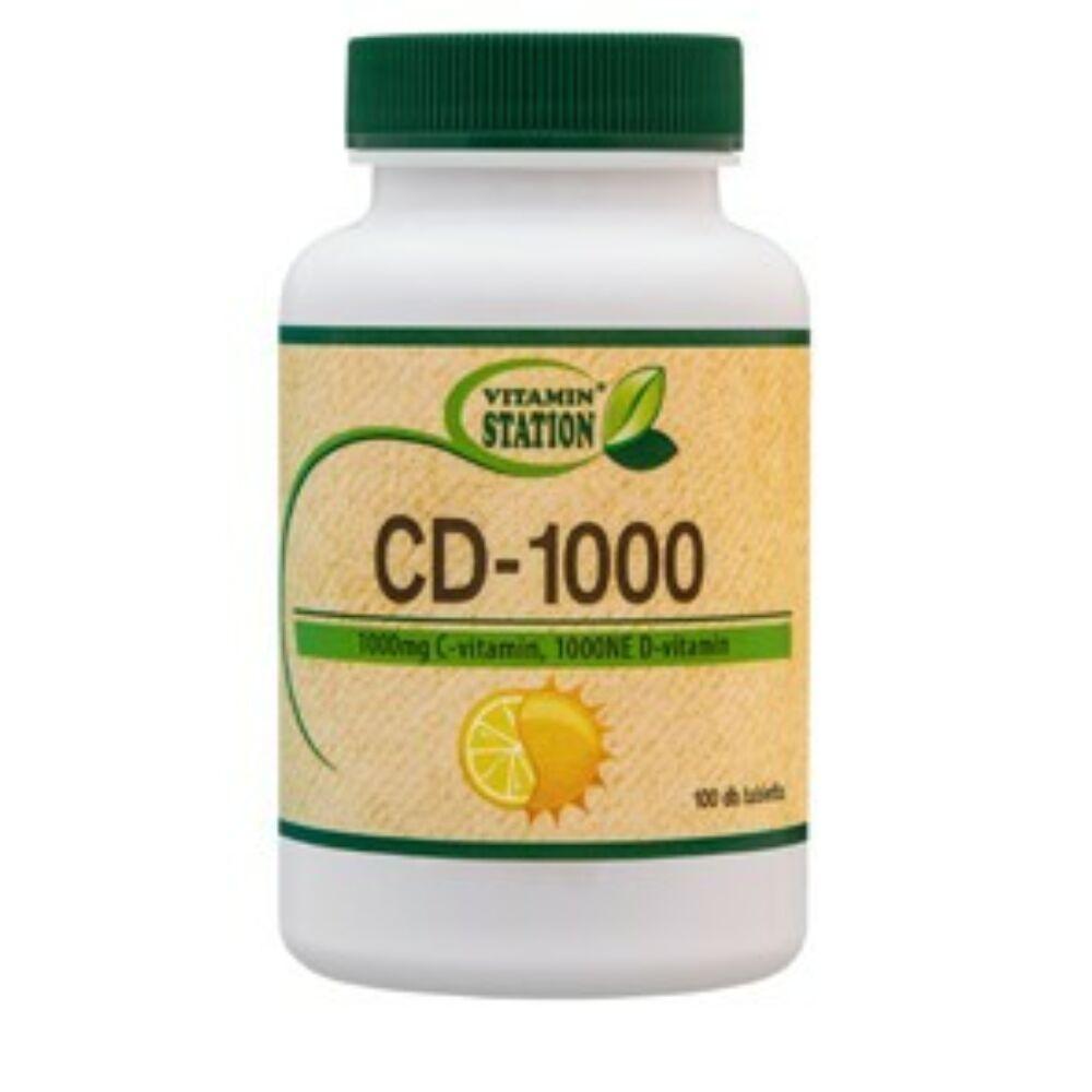 VITAMIN STATION C és D-1000 vitamin  -100DB