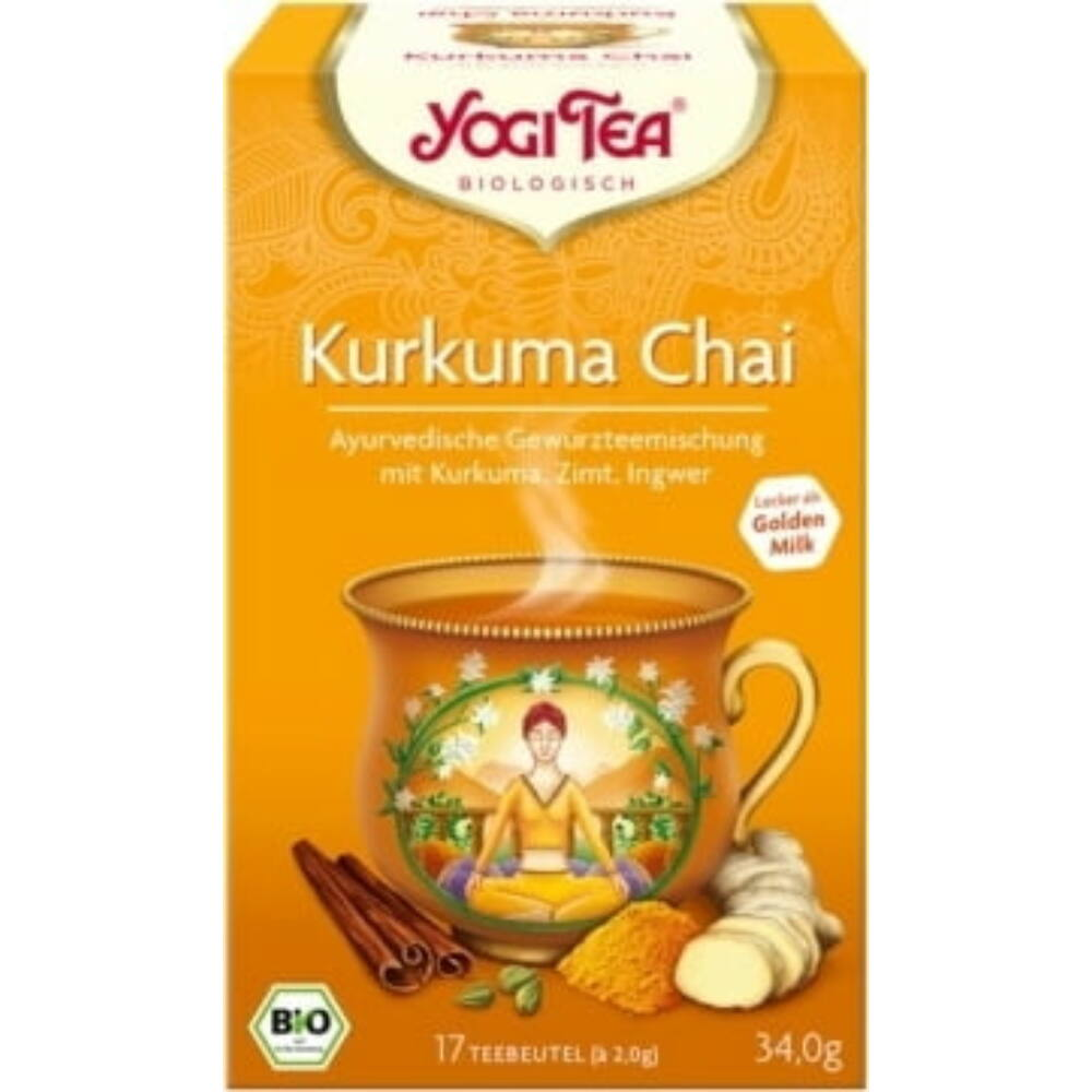 bio yogi ayurvéda kurkumás chai tea filteres