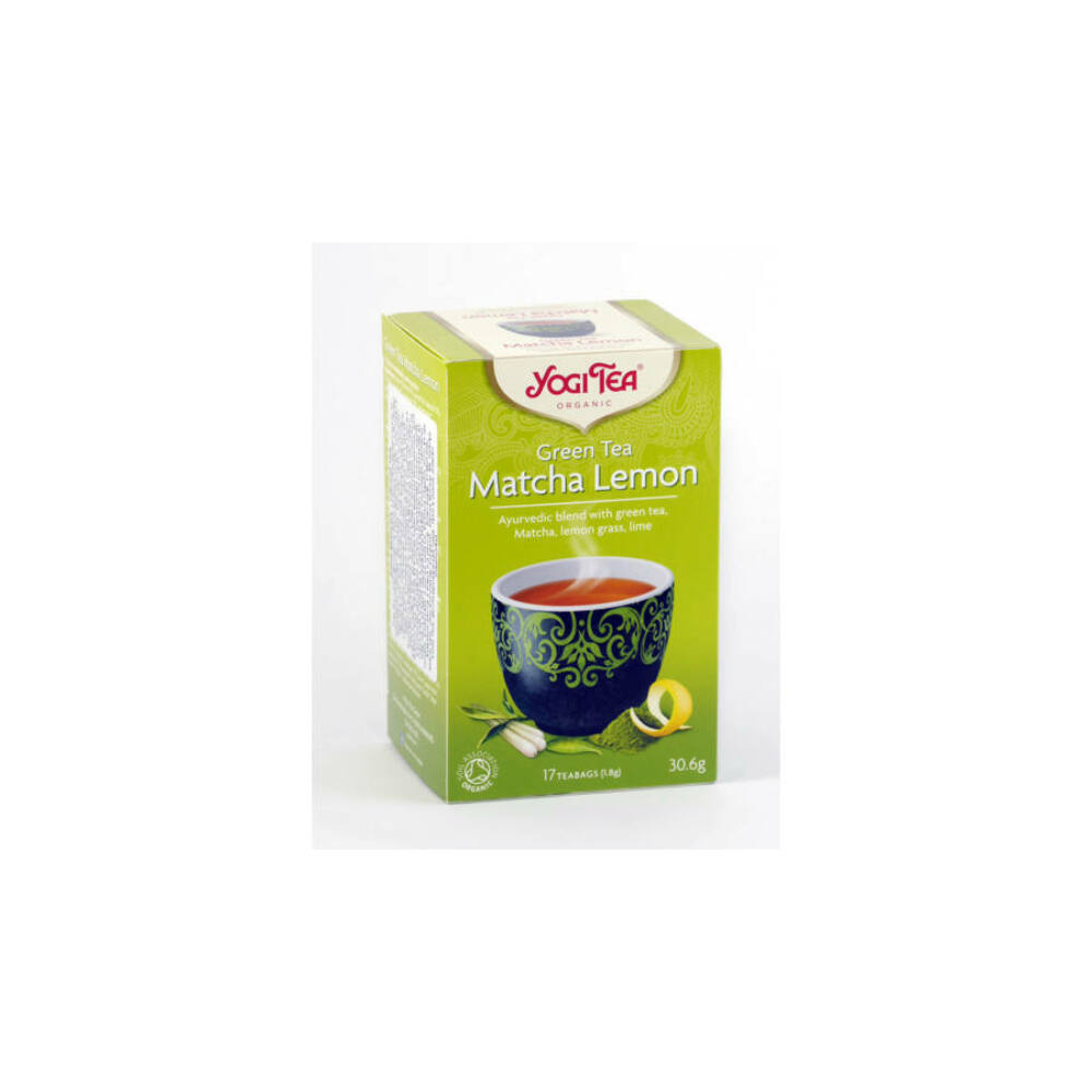 Bio yogi tea zöld matcha-citrom 17db