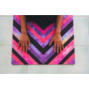 Yoga Design Lab Travel matrac 1mm Chevron Maya, Fekete