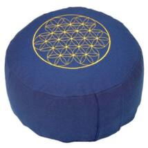 Meditációs párna - Élet virága - Flower of Life - Rondo Basic 32 x 20 cm kék