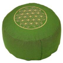 Meditációs párna - Élet virága - Flower of Life - Rondo Basic 28 x 17 cm - zöld