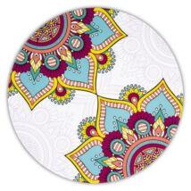 Mandala alátét kerek türkiz 6-os készlet