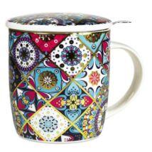 Teásbögre Szűrővel - Oriental- színes