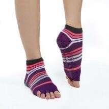 Gaiam - jóga zokni - lábtyű - lila/pink