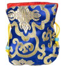 Brocate táska kék, piros béléssel, ékszerhez, málához