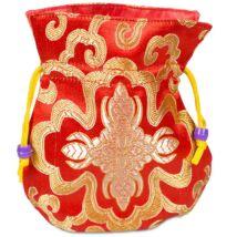 Brocate táska piros, málához, piros béléssel