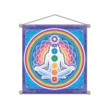 Om Namo Shiva zászló 37,5x37,5 cm