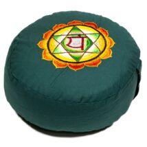 Meditációs párna Anahata csakra, szív csakra, hímzett
