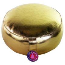 Meditációs párna - arany műbőr huzattal 33 x 17 cm
