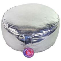Meditációs párna - ezüst műbőr huzattal 33 x 17 cm