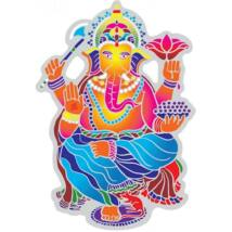 Suncatcher matrica - Dancing Ganesha - 15.5 cm
