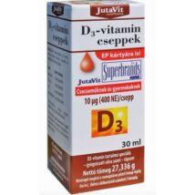 JUTAVIT D3-VITAMIN - 400 NE CSEPPEK 30ML