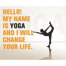 Hűtőmágnes - Hello My name is Yoga - narancs