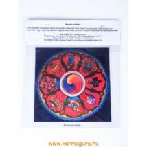 Ablakmatrica - Tibeti 8 szerencsejeles (13cm)