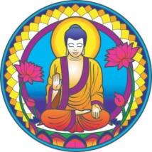 Ablakmatrica Buddha 14cm
