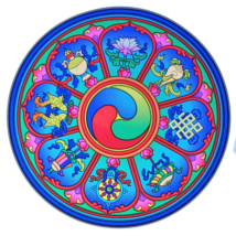 Ablakmatrica tibeti 8 szerencsejel 14cm