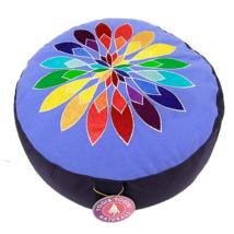 Meditációs párna csakravirággal