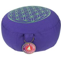 Meditációs párna életvirággal, lila