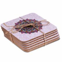 Poháralátét - Mandala - 6 db