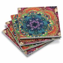 Kerámia Alátét - Színes Mandala