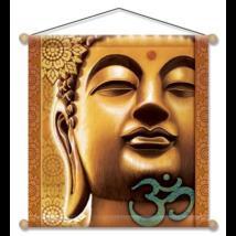 Meditációs zászló Buddhával, 37,5x37,5 cm