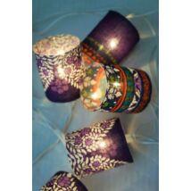 Lámpafüzér lila (10 égős)