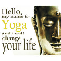 Hűtőmágnes - Hello My name is Yoga - Buddha fejes