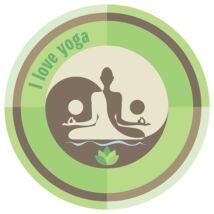Kültéri dekormágnes Autóra - I love Yoga
