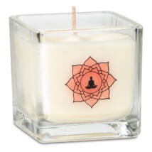 Illatos gyertya repceviaszból (lótuszvirág, vanília) - Meditáció