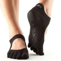 Jógazokni Bellarina Fekete - Toesox - L - Full toe (több méret)